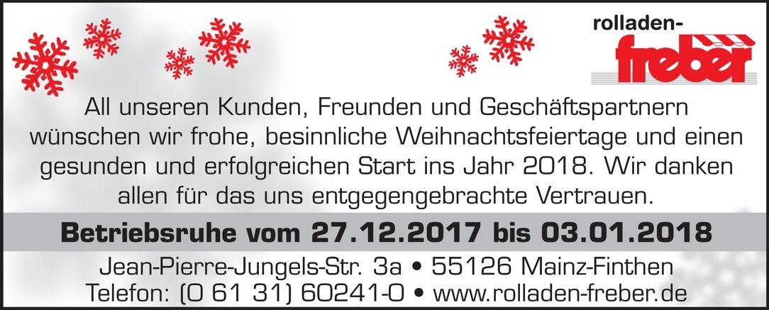 Frohe Weihnachten und einen guten Rutsch ins neue Jahr - Mainz ...