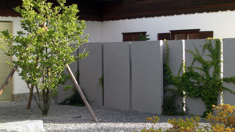 Referenz Sichtschutz Aus Stein Karok Gartengestaltung Und