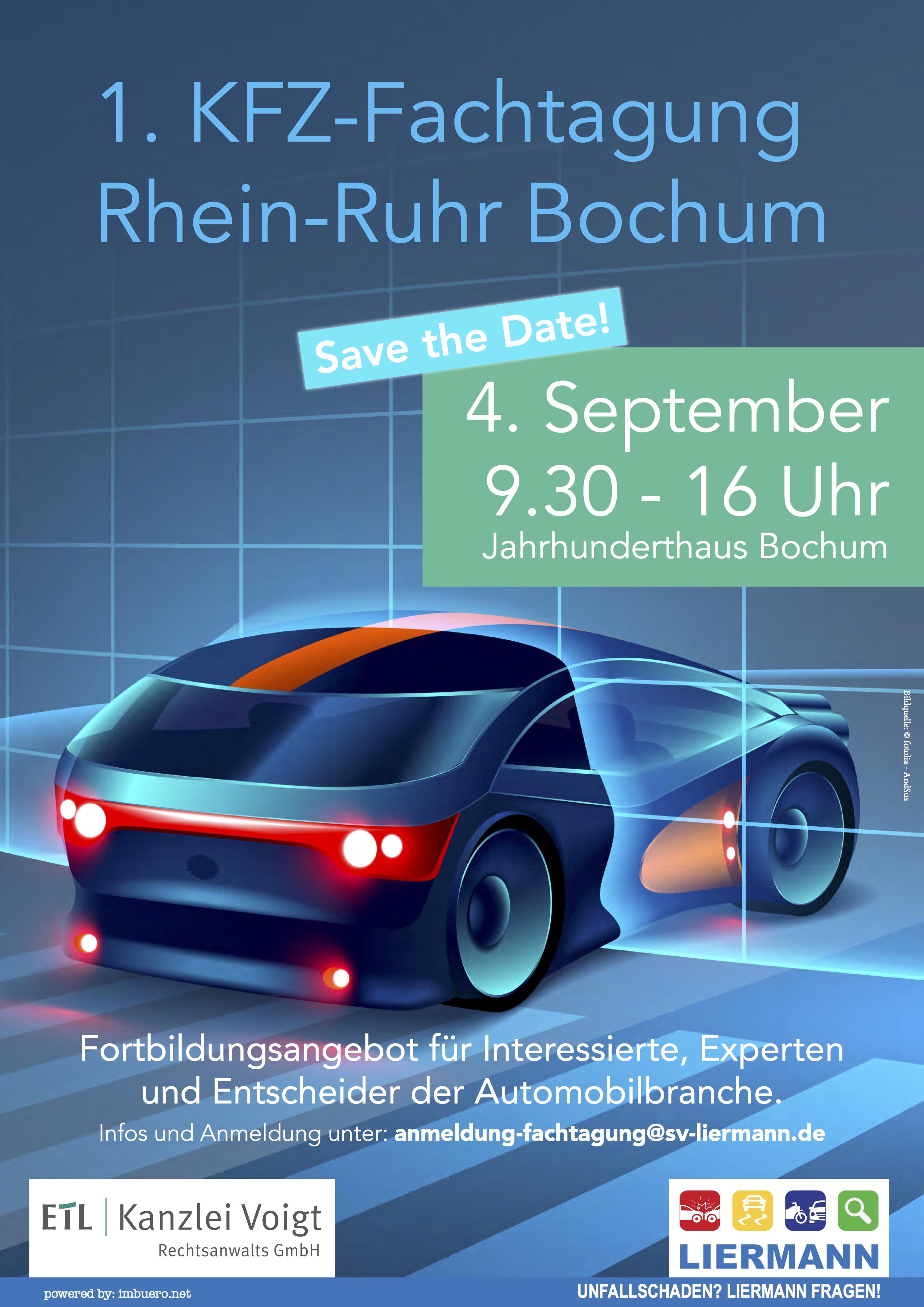1. KFZ-Fachtagung Rhein-Ruhr 2018 - Save the Date